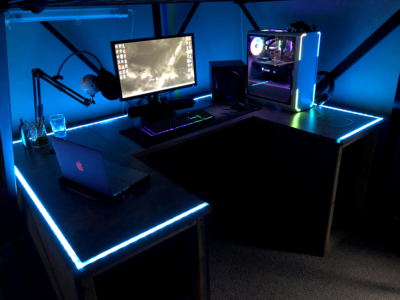 Custom RGB Desk Setup